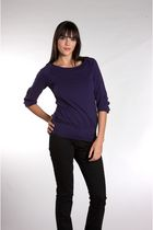 purple lamade blouse