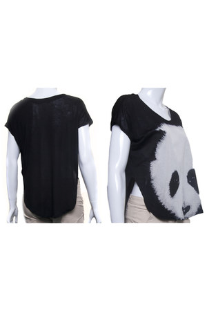 panda print top Rock n Rose t-shirt