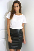 Rugged Leather DKNY Skirt