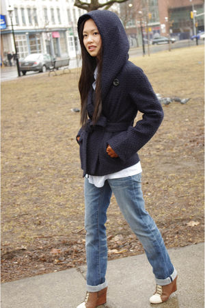 Gap jeans - Urban Outfitters boots - BCBG coat - vintage shirt - Rudsak gloves
