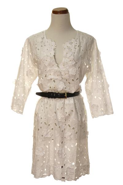 white Anthropologie dress