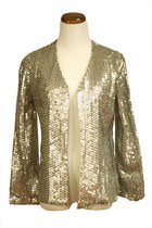 Sequined-cardigan