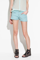 light blue Zara shorts