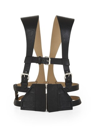 leather harness BCBG belt - Jcrew jeans - tank top Forever21 top