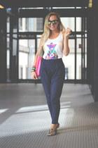 LA SEORITA bracelet - H&M bag - Ebay sunglasses - Mdernaked t-shirt
