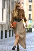 Love skirt - Zara boots - BLANCO belt - Zara blouse