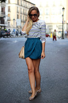 Celop Punto skirt - Zara bag - Zara t-shirt - Anniel flats - Lefties necklace