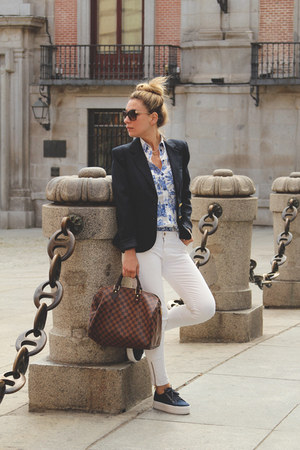 Louis Vuitton bag - Zara jeans - Pull &amp; Bear blazer - SuitBlanco shirt