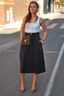 Menbur-bag-stradivarius-t-shirt-midi-zara-skirt-animal-print-zara-heels
