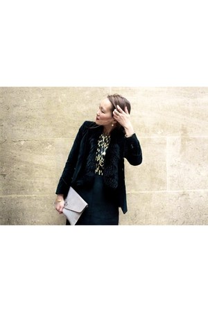 Pavane dress - The Kooples jacket - Yves Salomon cardigan