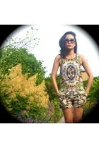 Zara romper - Chanel sunglasses