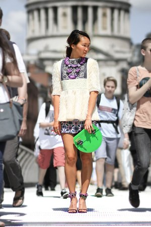 Kirsty Ward top - Native Rose skirt