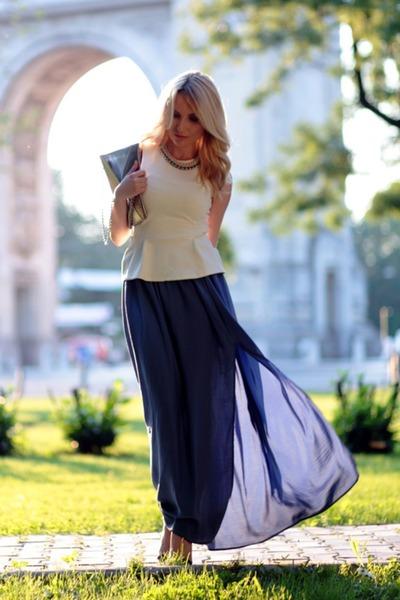 Bershka skirt - Stradivarius bag - Zara heels - H&M top