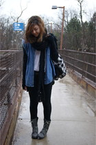 Qupid boots - Forever21 scarf - Pac Sun bag