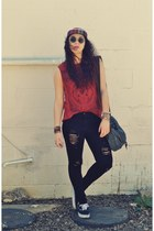 Urban Outfitters t-shirt - GoJane jeans - obey hat - Vans sneakers