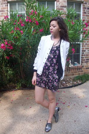 romper charolette russe - f21 shoes - TJMaxx jacket