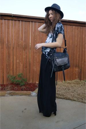 moms pants - Target hat - Forever 21 bag - Forever 21 top
