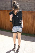 f21 jacket - f21 shorts - UrbanOG shoes