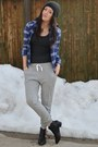 Navy-forever21-shirt-heather-gray-h-m-pants