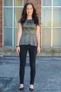 Camel-forever21-top-black-jessica-simpson-pants