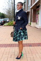 wool crest navy Ralph Lauren blazer - skirtpolka dots Juicy Couture skirt