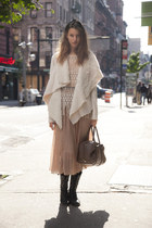 black Steve Madden boots - light pink free people dress
