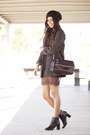 Black-zara-dress-charcoal-gray-mango-coat
