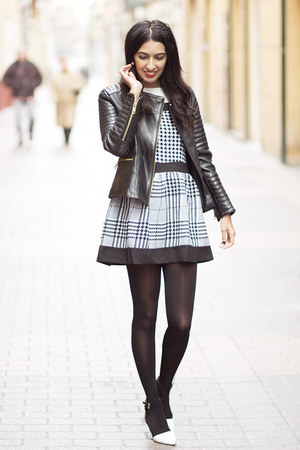 black Sheinside dress - black Mango jacket