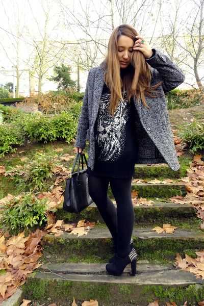 Mango blazer - Zara sweater - Primark wedges