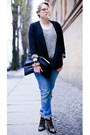 Black-chloe-boots-blue-replay-jeans-black-prose-blazer