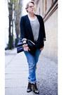 Black-chloe-boots-blue-replay-jeans-black-prose-blazer