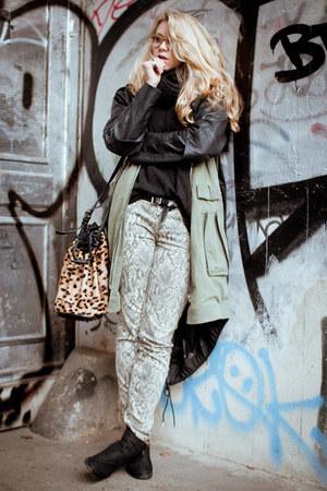 Alexander Wang jacket - Akira boots - Current Elliot jeans - Alexander Wang bag