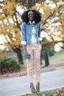 Jean-michel-cazabat-shoes-levis-jacket-loft-pants-h-m-blouse
