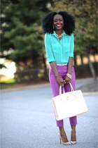 Christian Louboutin shoes - Forever 21 shirt - Aldo bag - JCrew pants - H&M belt