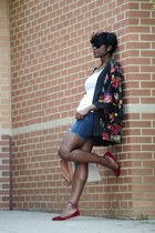 bcbg max azria bag - American Eagle shorts - hmcom H&M top - Vogue glasses