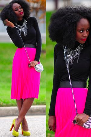Christian Louboutin shoes - hm purse - BCBG necklace - hm skirt - hm top