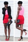 Bcbg-blazer-h-m-shirt-h-m-skirt-michael-kors-watch-zara-heels