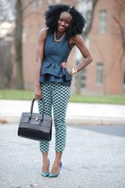 Express necklace - asos shirt - Aldo bag - Jean-Michel Cazabat pumps