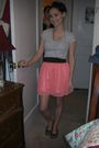 Gray-forever-21-t-shirt-pink-target-skirt-target-shoes-black-forever-21-ac