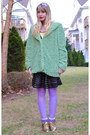 Gold-shoes-aquamarine-jacket-light-purple-tights-light-purple-socks
