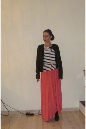 hot pink Religion dress - black ted baker jacket - white H&M t-shirt
