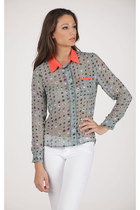 Mint Dot Top