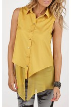 Waterfall Layer Mustard Top