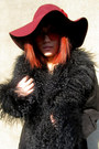 Black-furry-some-velvet-vintage-coat