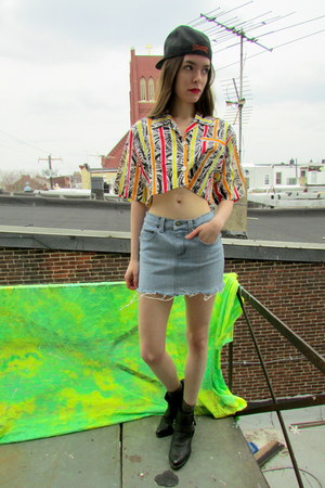 crop top some velvet vintage shirt