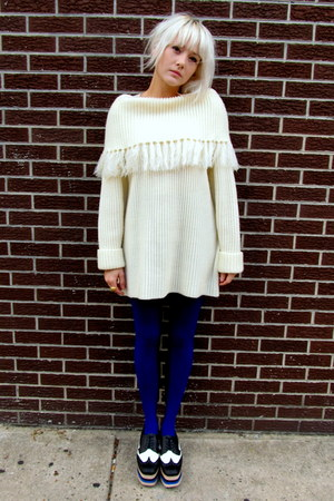 fringe some velvet vintage sweater