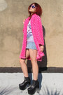 Hot-pink-plush-some-velvet-vintage-coat