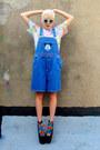 Blue-mickey-mouse-some-velvet-vintage-shorts