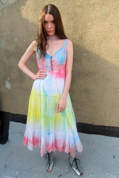 ombre some velvet vintage dress