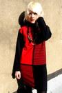 Striped-some-velvet-vintage-dress